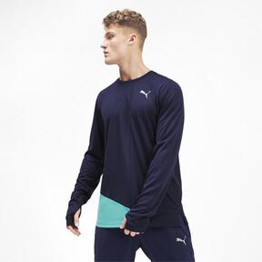 Miniatura 1 de Camiseta Ignite de mangas largas para hombre, Peacoat-Blue Turquoise, mediano
