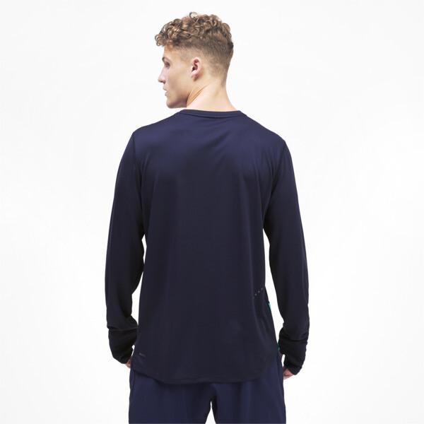 Camiseta Ignite de mangas largas para hombre, Peacoat-Blue Turquoise, grande