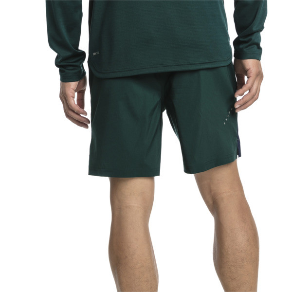 IGNITE Woven Men's Training Shorts, Ponderosa Pine-Peacoat, large