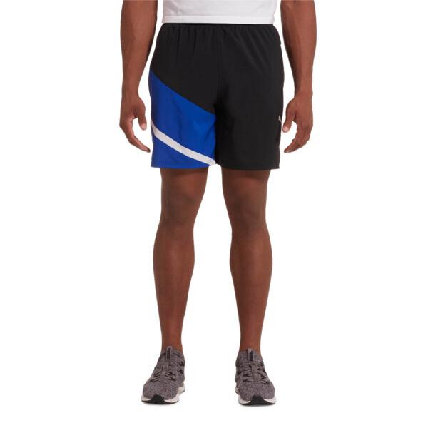 "Ignite Blocked Men's 7"" Shorts, Puma Black-Surf The Web, large"