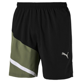Thumbnail 4 of IGNITE Woven Men's Training Shorts, Puma Black-Olivine, medium