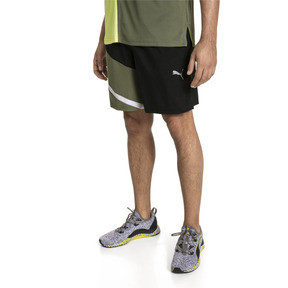 Thumbnail 1 of IGNITE Woven Men's Training Shorts, Puma Black-Olivine, medium