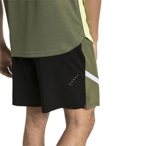 Thumbnail 2 of IGNITE Woven Men's Training Shorts, Puma Black-Olivine, medium
