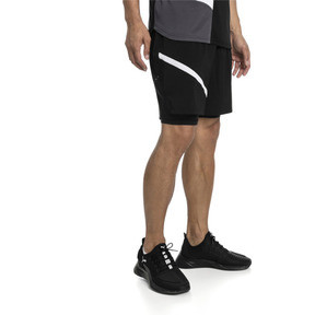 Thumbnail 1 of IGNITE Herren Gewebte 2 in 1 Running Shorts, Puma Black-Puma White, medium