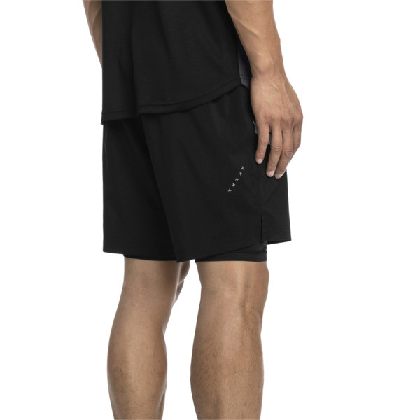 IGNITE Herren Gewebte 2 in 1 Running Shorts, Puma Black-Puma White, large