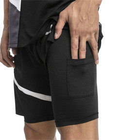 Thumbnail 4 of IGNITE Herren Gewebte 2 in 1 Running Shorts, Puma Black-Puma White, medium