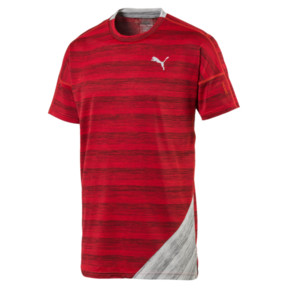 Thumbnail 4 of PACE Short Sleeve Men's Running Tee, Hi Rsk Red Hthr-Lt Gry Hthr, medium