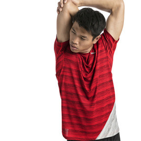 Thumbnail 1 of PACE Short Sleeve Men's Running Tee, Hi Rsk Red Hthr-Lt Gry Hthr, medium