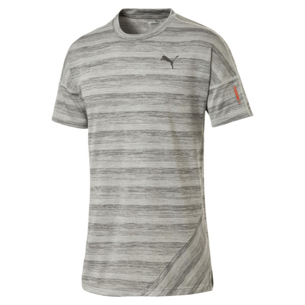 PACE Short Sleeve Men's Running Tee, Light Gray Heather, large