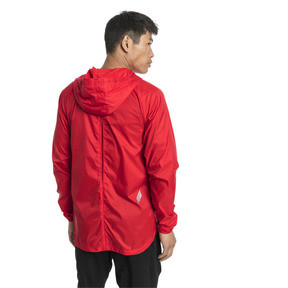 Thumbnail 2 of Lightweight Full Zip Hooded Men's Jacket, High Risk Red, medium