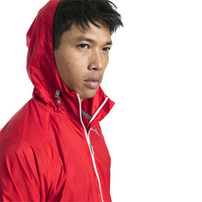 Thumbnail 4 of Men's Lightweight Hooded Jacket, High Risk Red, medium