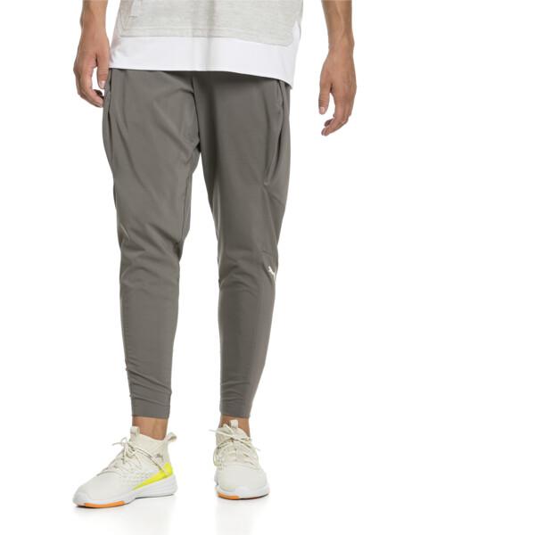 NeverRunBack Men's Tapered Pants, Charcoal Gray, large