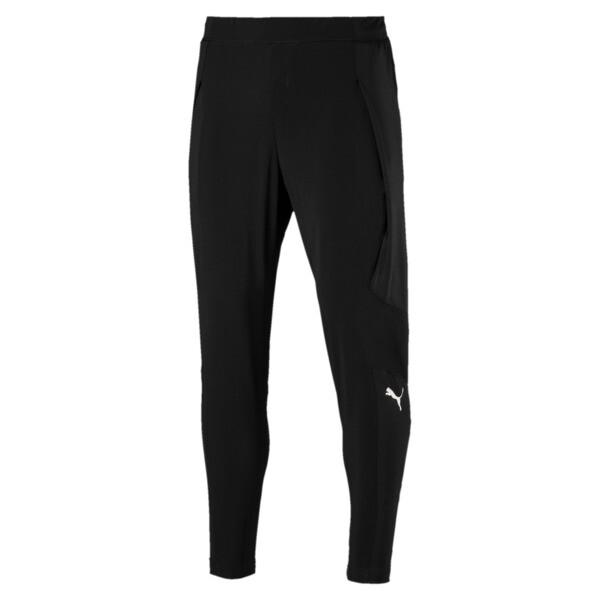 NeverRunBack Men's Tapered Pants, Puma Black, large