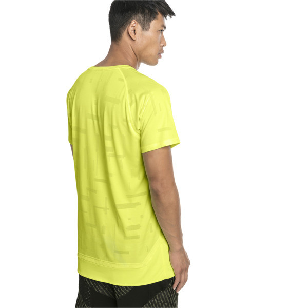 Energy Short Sleeve Tech Men's Training Tee, Fizzy Yellow, large
