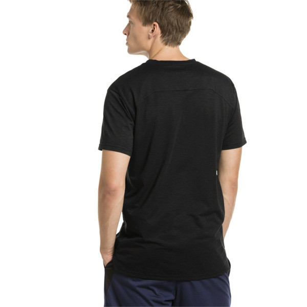 Energy Short Sleeve Men's Training Tee, Puma Black Heather, large