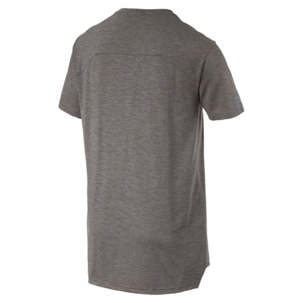 Energy Short Sleeve Men's Training Tee, Charcoal Gray Heather, large