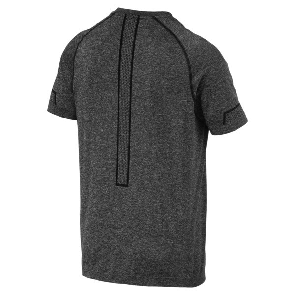 Energy Seamless Men's Training Tee, Puma Black Heather, large