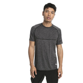 Thumbnail 1 of Energy Seamless Men's Training Tee, Puma Black Heather, medium