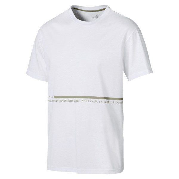 Energy Triblend Men's Tee, Puma White-Elm, large