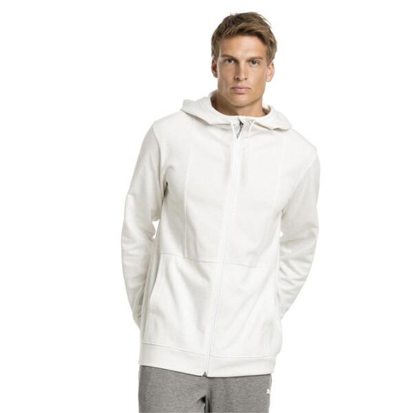 Energy Men's Jacket, Puma White-Heather, large