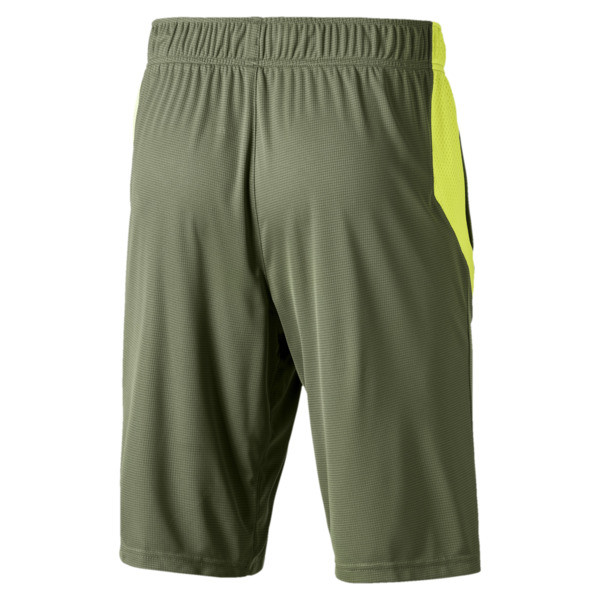 Energy Knitted Men's Training Shorts, Olivine-Fizzy Yellow, large