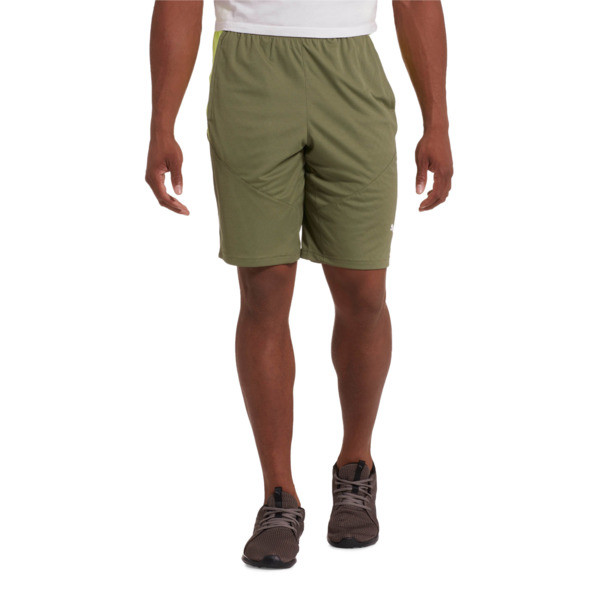 "Energy Knit Men's 10"" Shorts, Olivine-Fizzy Yellow, large"