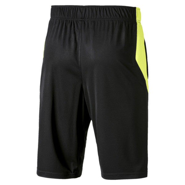 Energy Knitted Men's Training Shorts, Puma Black-Fizzy Yellow, large