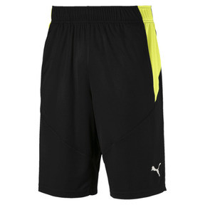 Thumbnail 1 of Energy Knitted Men's Training Shorts, Puma Black-Fizzy Yellow, medium