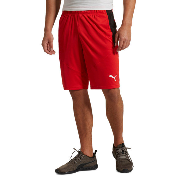 "Energy Knit Men's 10"" Shorts, High Risk Red-Puma Black, large"
