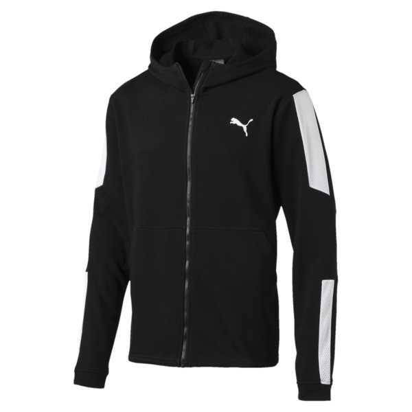 Energy Sweat Blaster Jacket, Puma Black-Puma White, large
