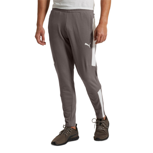 Energy Sweat Blaster Men's Pants, Charcoal Gray-Puma White, large