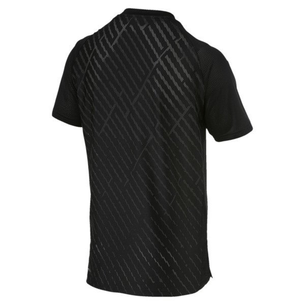 VENT Graphic Men's Training Tee, puma black-charcoal gray, large