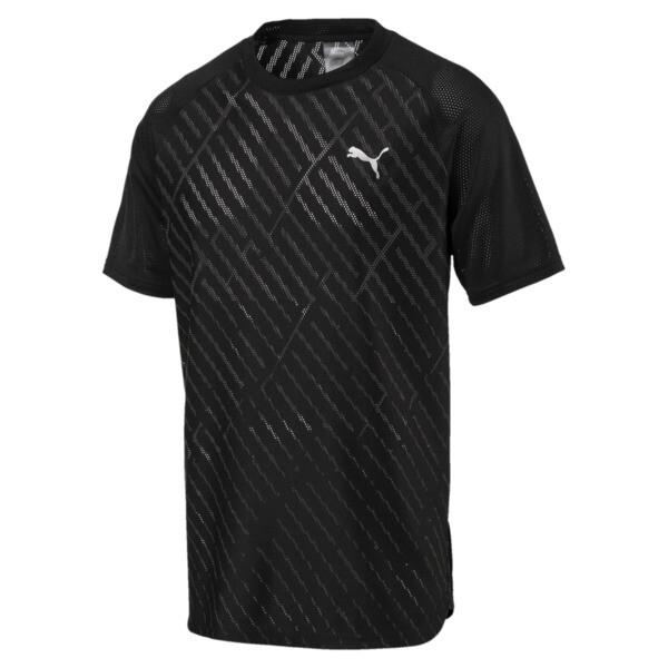 VENT Graphic Herren Training T-Shirt, puma black-charcoal gray, large