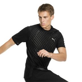 Imagen en miniatura 1 de Camiseta de training con gráfico de hombre VENT, puma black-charcoal gray, mediana