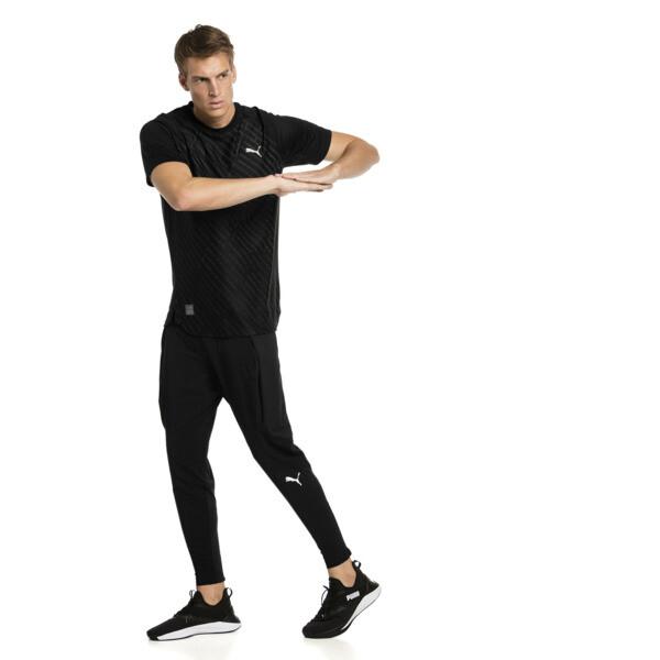 Camiseta de training con gráfico de hombre VENT, puma black-charcoal gray, grande