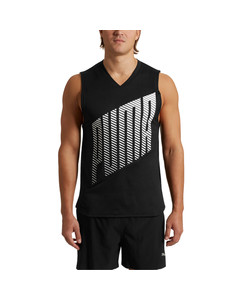 Popular Brand Puma Power Cool Mens Running Singlet Blue Graphic Sports Vest Gym Training Tank Activewear Tops