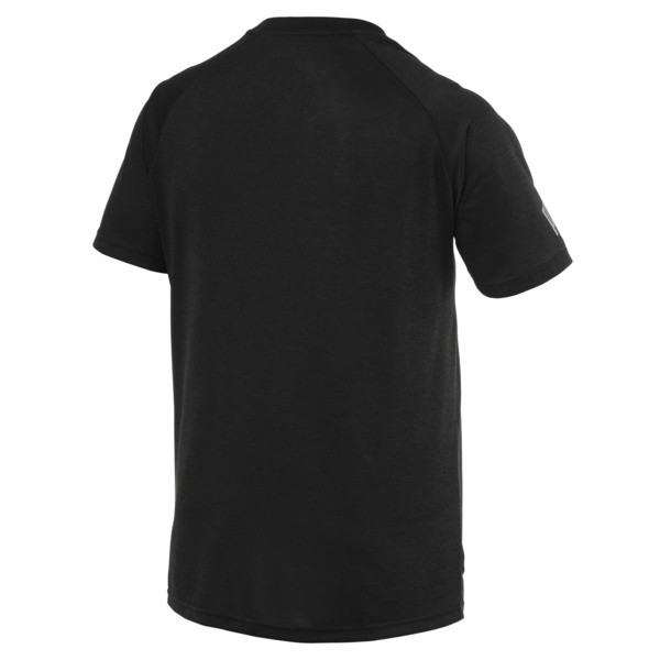 The Cat Men's Heather Tee, Puma Black Heather, large