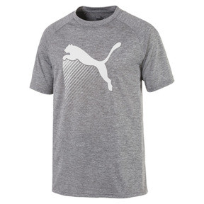 Thumbnail 1 of The Cat Men's Heather Tee, Charcoal Gray Heather, medium