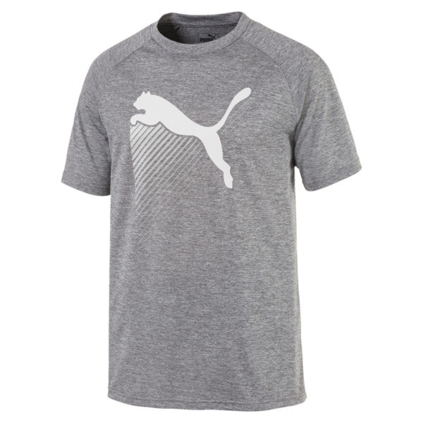The Cat Men's Heather Tee, Charcoal Gray Heather, large
