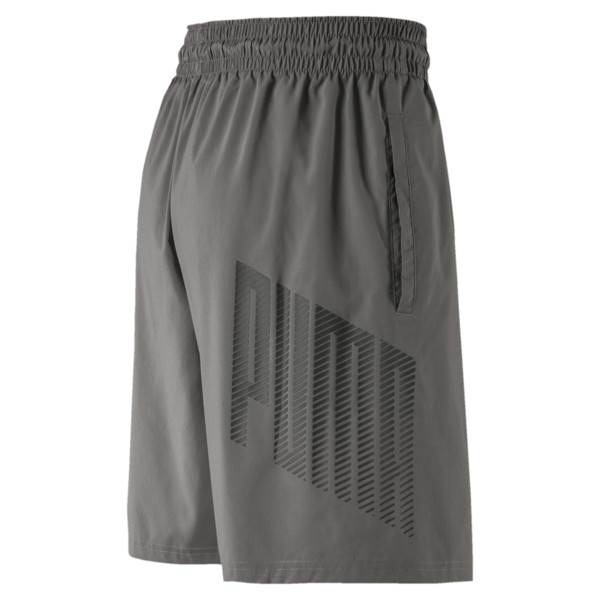 A.C.E. Men's Woven Shorts, Charcoal Gray, large