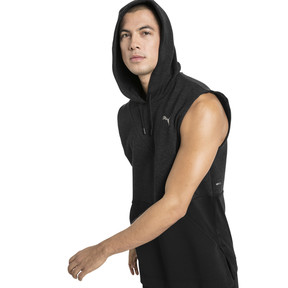 Thumbnail 1 of BND Sleeveless Men's Training Hoodie, Puma Black Heather, medium