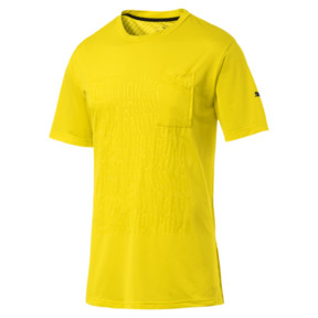 Thumbnail 4 of CAUTION Men's Graphic Tee, Blazing Yellow, medium