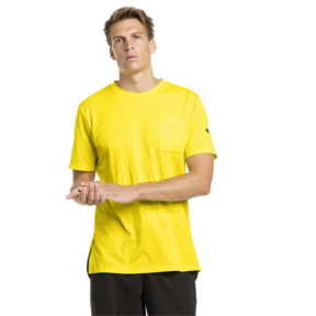 Thumbnail 1 of CAUTION Men's Graphic Tee, Blazing Yellow, medium