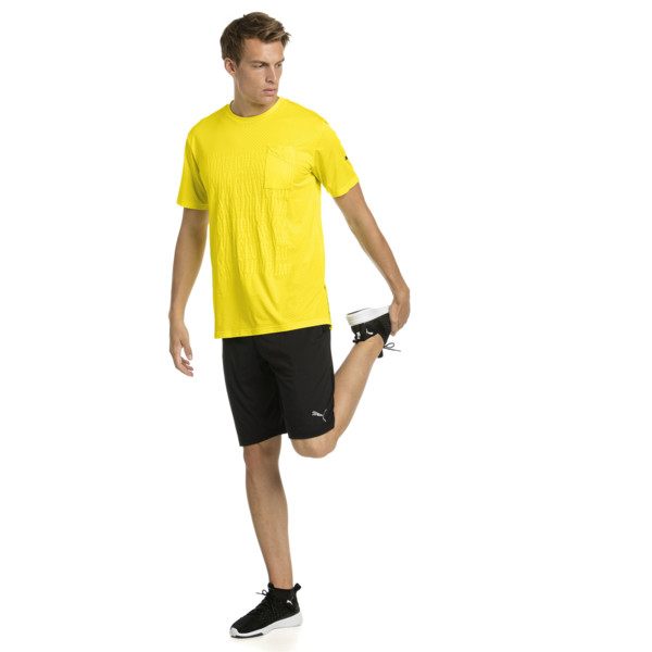 CAUTION Men's Graphic Tee, Blazing Yellow, large