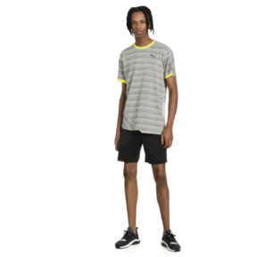 Thumbnail 3 of PACE Breeze Short Sleeve Men's Running Tee, Lt Gry Hthr-Fizzy Yellow, medium