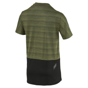 Thumbnail 2 of PACE Breeze Short Sleeve Men's Running Tee, Olivine-Puma Black, medium