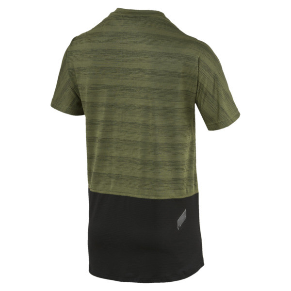 PACE Breeze Men's S/S Tee, Olivine-Puma Black, large