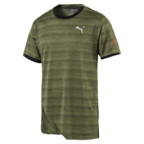 Thumbnail 1 of PACE Breeze Short Sleeve Men's Running Tee, Olivine-Puma Black, medium