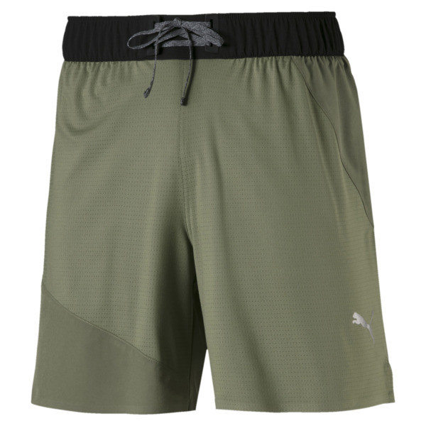 PACE Breeze Men's Shorts, Olivine-Puma Black, large