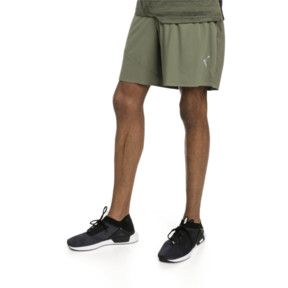 Thumbnail 1 of PACE Breeze Men's Running Shorts, Olivine-Puma Black, medium